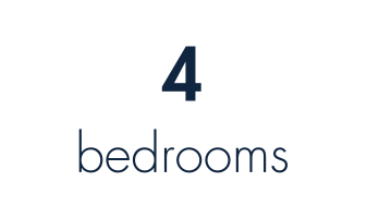 4 bedrooms or 3 bedrooms and one office
